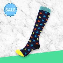 Load image into Gallery viewer, TheraSocks Knee High - Polka Dot Days - TheraWear
