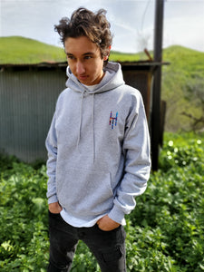 "Light Steel Multi-Color ""HTM"" Hoodie"