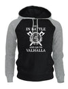 sweat capuche viking noir gris