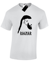 t shirt viking ragnar gris clair