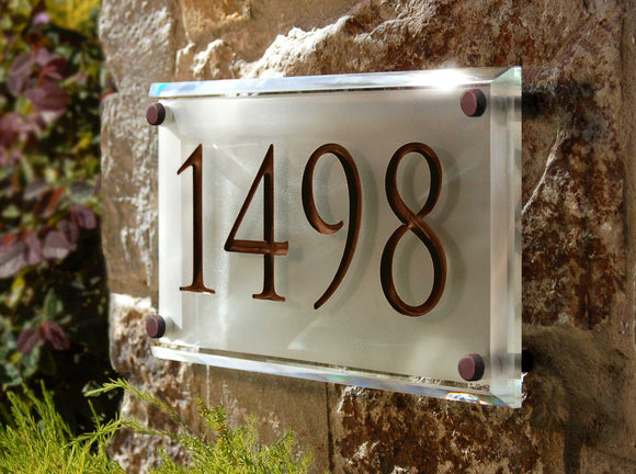 Crystal Address Plaques
