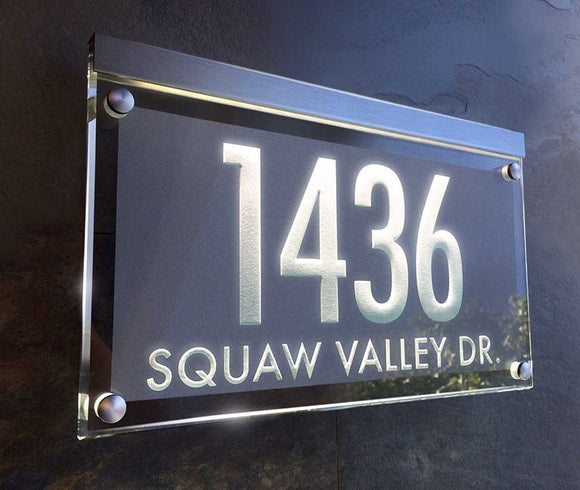 Lighted Address Signs