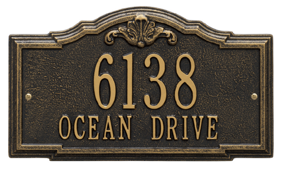 Address Plaques with Ornate Borders