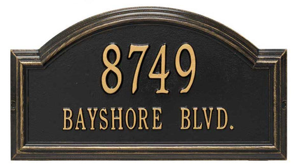 Classic Cast Metal Address Plaques