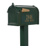 Personalized Whitehall Premium Mailbox with Side Address Plaques & Post Package