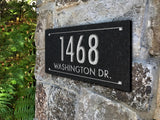 Stone Address Plaque with Engraved Numbers. Address Sign Made from Solid, Real Stone. Ships in 2-3 Days.