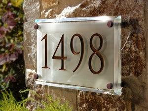 Crystal Address Plaque with Engraved Numbers