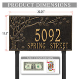 The Lawn Mounted Spring Blossom Plaque