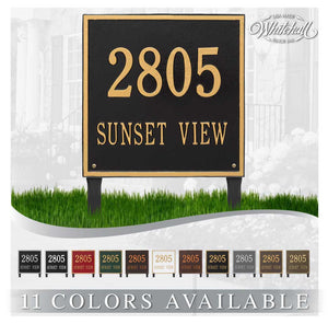 Lawn Mounted Large Square Plaque EXTRA LARGE SIZE