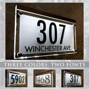 Crystal Lighted Address Sign! This Address Plaque is Bright and Beautiful