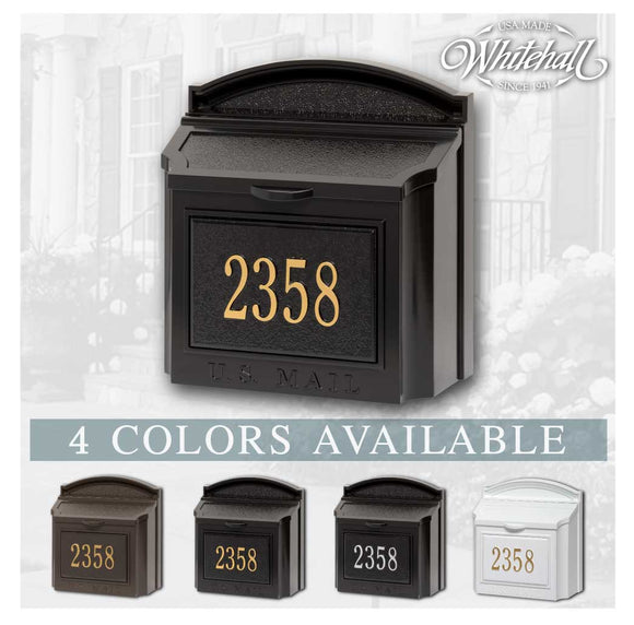 Personalized Whitehall Wall Mailbox with Address Plaque