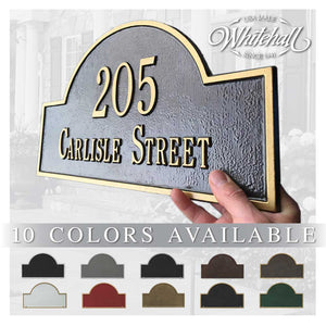 "15.75"" Arch Marker with Street Name (wall mounted sign)"