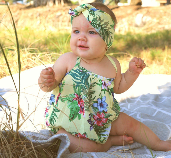 Cute baby summer romper