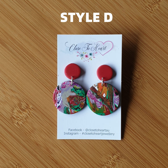 MULTI SWIRL EARRING - PIERCED EARS