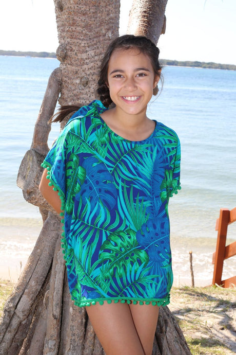 Girls Kaftan in floral print