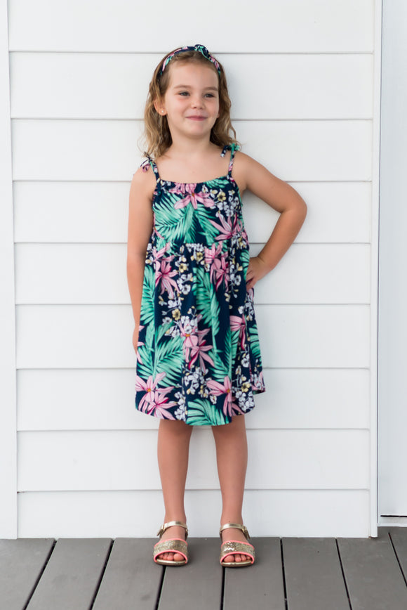 Pink Orchid Summer Dress - Kids