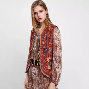 Boho Vintage Embroidery Jacket