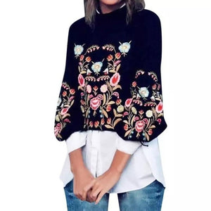 Boho Chic Floral Sweater