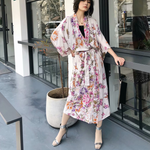 Load image into Gallery viewer, Vintage Chic Floral Boho Kimono