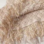 Load image into Gallery viewer, Boho Beige Tassel Top