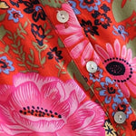 Load image into Gallery viewer, Red Daisy Beach Boho Dress