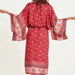 Load image into Gallery viewer, Red Cali Summer Kimono
