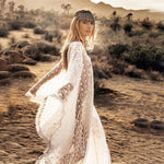 Load image into Gallery viewer, Lace Bohemian Maxi Desert Dress