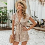Load image into Gallery viewer, Beige Bohemian Jumpsuit