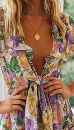 Load image into Gallery viewer, Bohemian Floral Jumpsuit