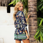 Load image into Gallery viewer, Bohemian Floral Print Romper