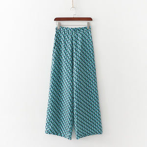 Blue Mint Boho Pants