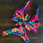 Load image into Gallery viewer, Multi Triangle Floral Boho Print Bikini