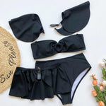 Load image into Gallery viewer, Black High Waist Detachable Bikini