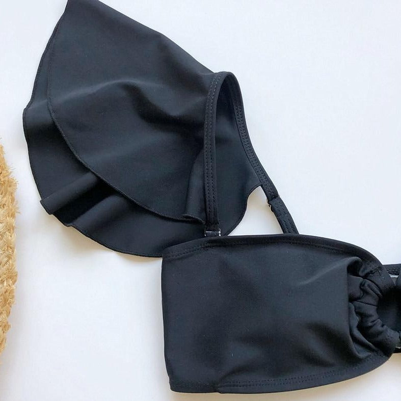 Black High Waist Detachable Bikini