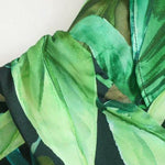 Load image into Gallery viewer, Tropical Green Leaves Boho Jumpsuit