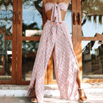Load image into Gallery viewer, Boho Beach Pants and Wrap Top Set
