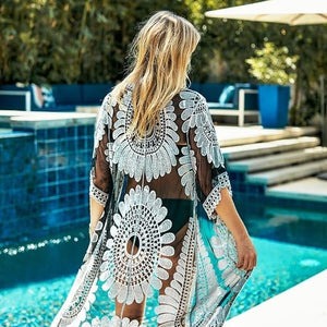 Sunflower Boho Bikini Cover Up
