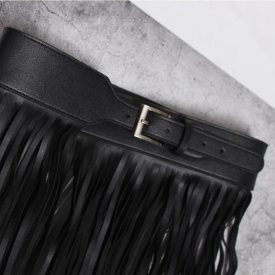 Vegan Leather Skirt Belt