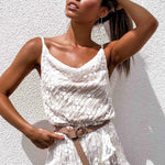 Load image into Gallery viewer, White Lace Boho Jumpsuit