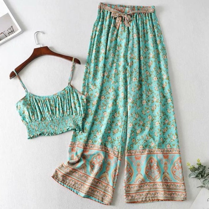 Vintage Chic Two Piece Boho Set