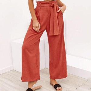 Summer Bohemian Wide Leg Pants