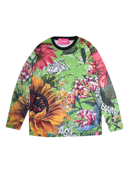 FLORAL L/S TEE GREEN