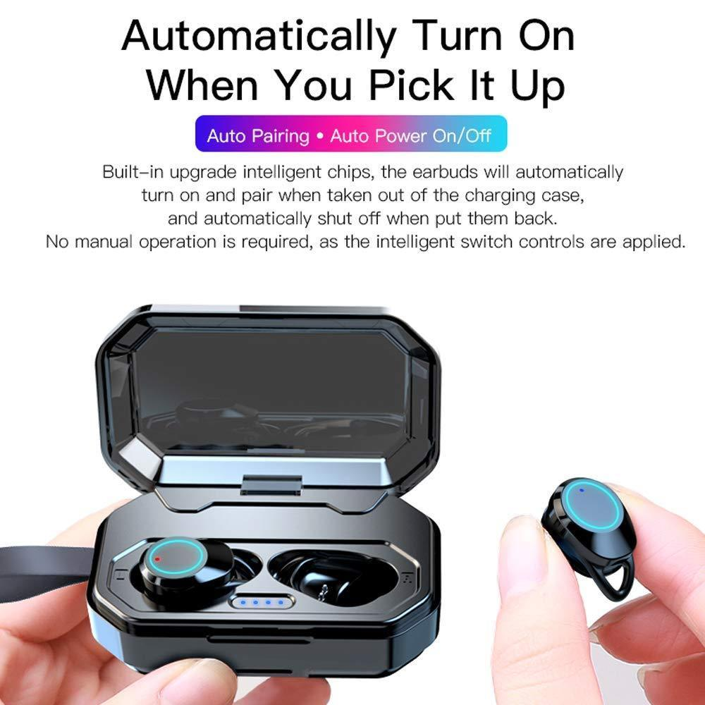 Wireless Earbuds, True Wireless Bluetooth 5 0 Earbuds, 3D Stereo Sound  Earphones, Wireless Bluetooth Headphones with Built-in Mic and Portable