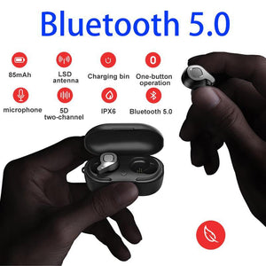 True Wireless Bluetooth 50 Earbuds Lds Antenna Noise Cancelling