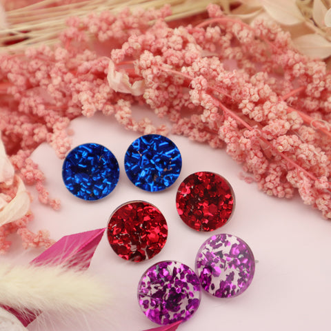 Glitz Studs Combo - all three colours