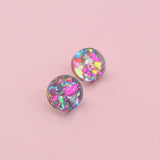 Stocking Filler Studs - Pink Rounds