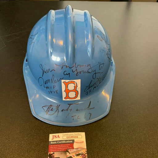Carl Yastrzemski Signed Fenway Park Ted Williams Tunnel Construction Helmet JSA