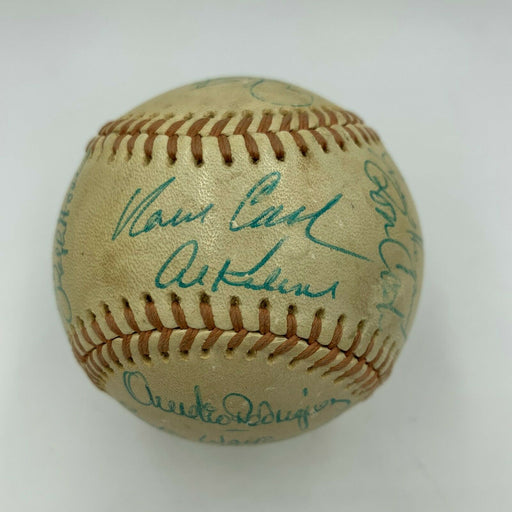 1974 Detroit Tigers Team Signed AL Baseball Al Kaline Norm Cash With JSA COA