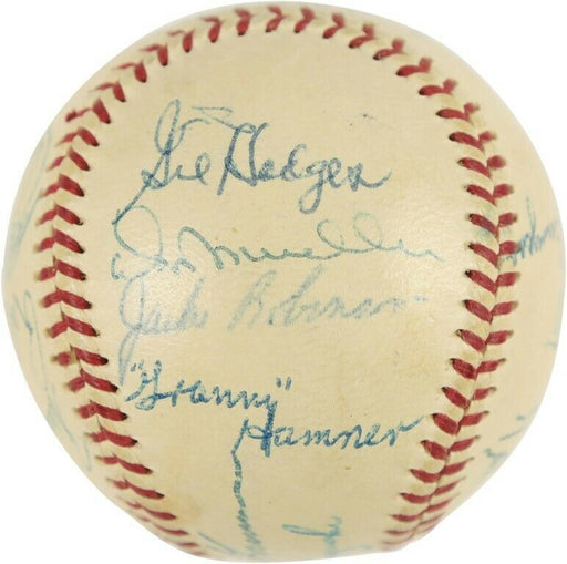 Jackie Robinson 1954 All Star Game Team Signed Baseball PSA DNA COA