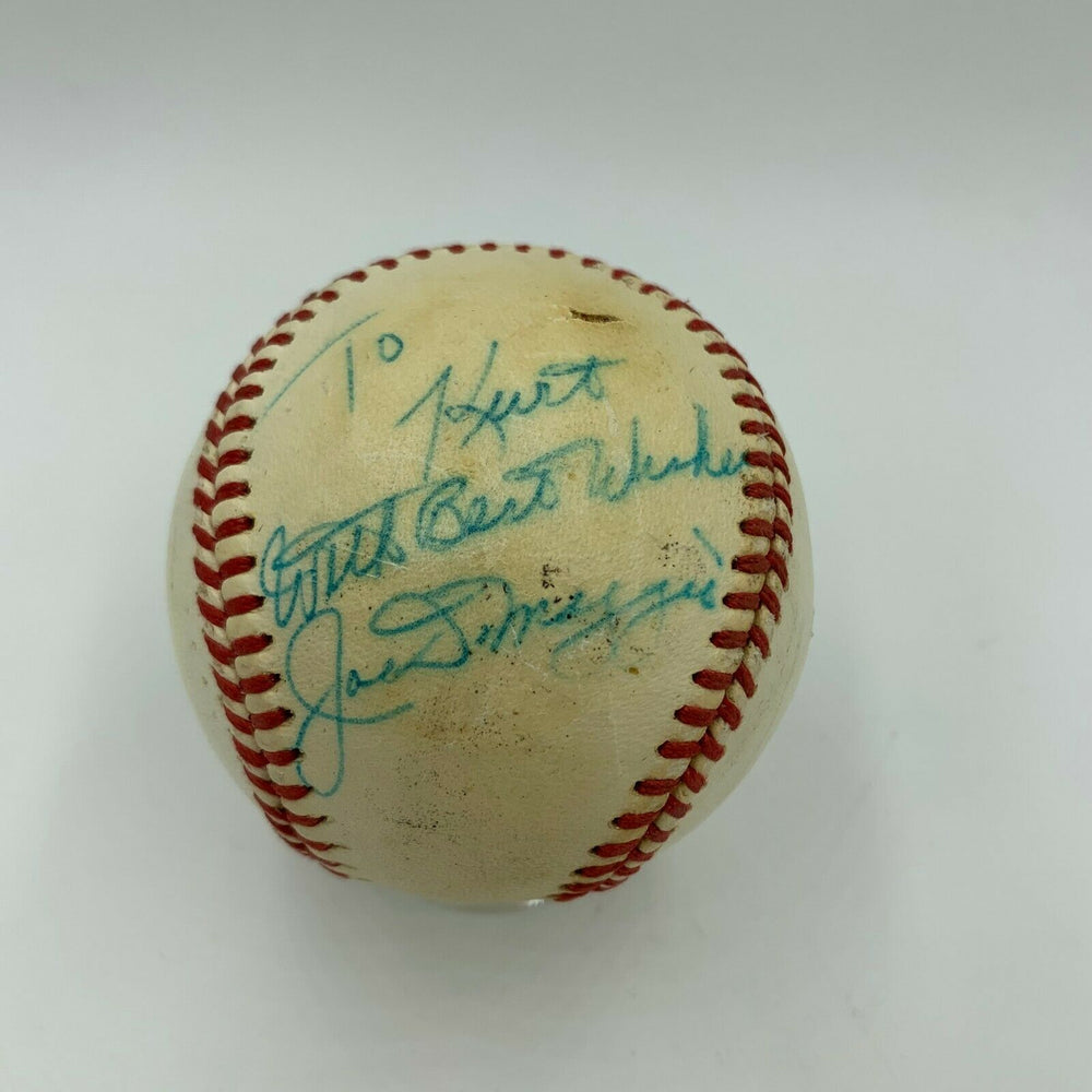 Joe Dimaggio Signed Vintage 1958 National League Giles Baseball With JSA COA